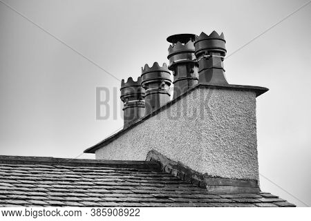 Old Chimney Pot On Chimney In York