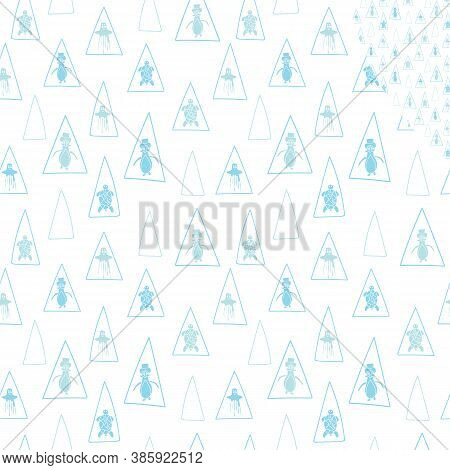 Vector Pastel Blue Aquatic Seamless Pattern Background