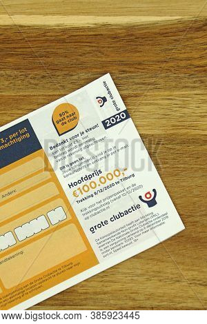Tilburg, The Netherlands - September 18, 2020: Part Af A Dutch Lottery Ticket 'grote Clubactie' Agai