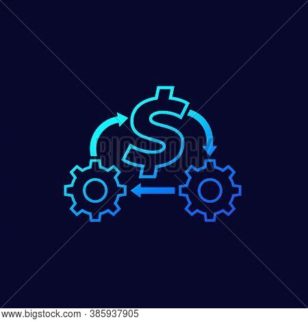 Cost Optimization Or Expenses Reduction Icon, Eps 10 File, Easy To Edit