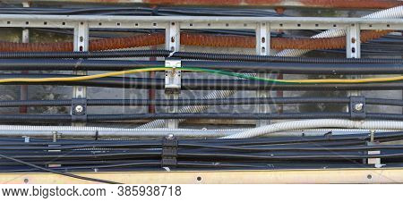 Power Cables, Control Cables And Instrument Cables Install On Cable Tray