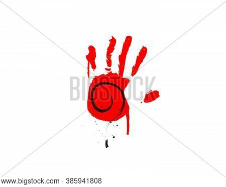 Mystery Hand Icon On White Background In Vector Illustration