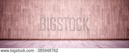 Concept or conceptual vintage or grungy beige background of natural wood or wooden old texture floor and wall as a retro pattern layout. A 3d illustration metaphor to time, material, emptiness,  age