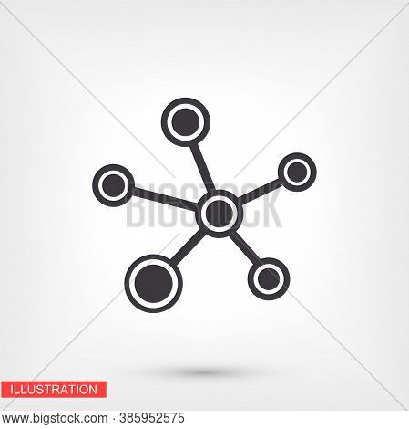 Social Network Single Icon Isolated On Background. Social Network Single Website Design, Social Netw