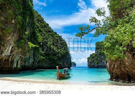 Travel Vacation Summer Background Of Beautiful Phi Phi Island In Krabi Province Thailand Amazing Vie