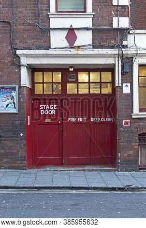 Bristol, Uk - December 1, 2016: The Stage Door Of The Bristol Hippodrome