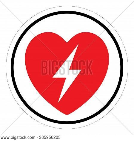 Aed Automated External Defibrillator Symbol Sign,vector Illustration, Isolated On White Background L