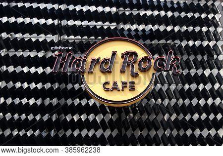 Bangkok, Thailand, Feb 1, 2018: The Logo Sign Of Hard Rock Cafe Shop At Siam Square Shopping Center.