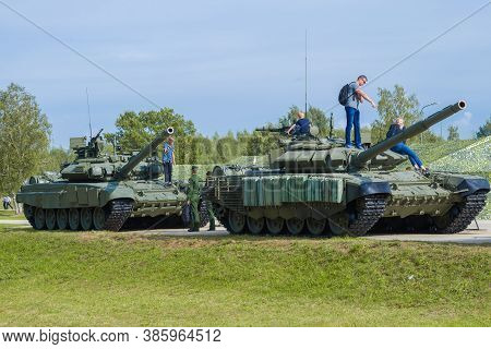 Alabino, Russia - August 25, 2020: Visitors To The International Military Forum