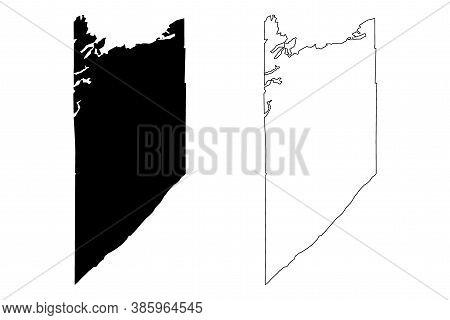 Lake County, Minnesota (u.s. County, United States Of America, Usa, U.s., Us) Map Vector Illustratio