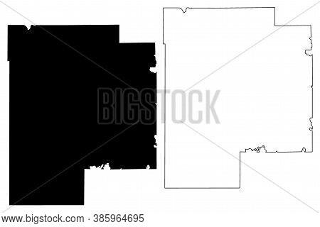 Meeker County, Minnesota (u.s. County, United States Of America, Usa, U.s., Us) Map Vector Illustrat