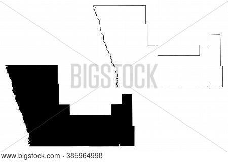 Polk County,  Minnesota (u.s. County, United States Of America, Usa, U.s., Us) Map Vector Illustrati