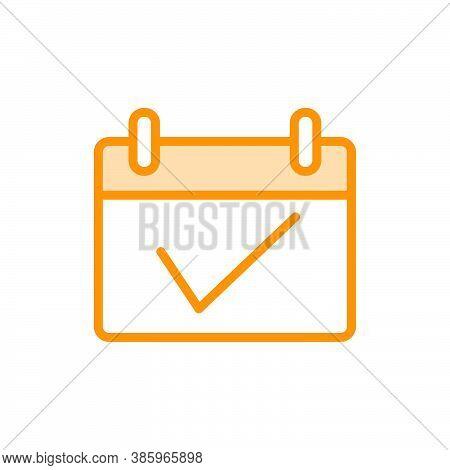 Illustration Vector Graphic Of Calendar Icon. Fit For Agenda, Remember, Application, Reminder Etc.