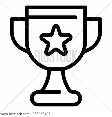 Champion Cup Icon. Outline Champion Cup Vector Icon For Web Design Isolated On White Background