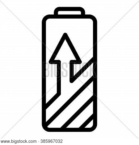 Home Charging Battery Icon. Outline Home Charging Battery Vector Icon For Web Design Isolated On Whi