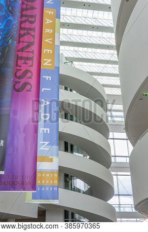 Aarhus, Denmark - April 12, 2015: Exterior Of Aros Art Museum In Denmark. One Of The Largest Art Mus
