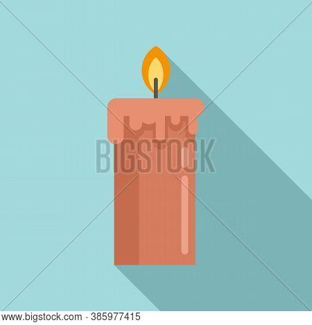 Sauna Burning Candle Icon. Flat Illustration Of Sauna Burning Candle Vector Icon For Web Design