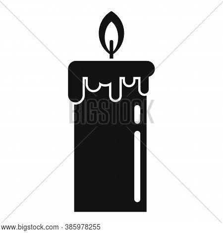 Sauna Burning Candle Icon. Simple Illustration Of Sauna Burning Candle Vector Icon For Web Design Is