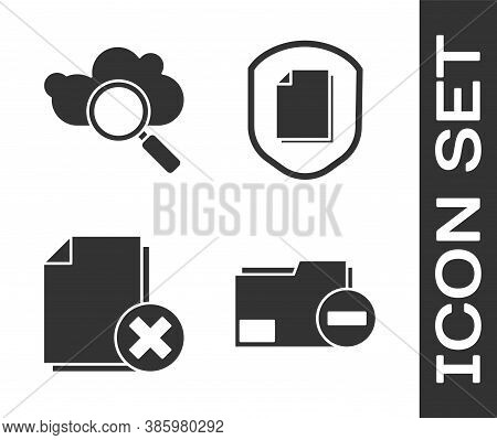 Set Document Folder With Minus, Search Cloud Computing, Delete File Document And Document Protection