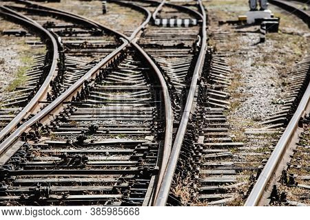 Railway Rails In Different Directions. Part, Background