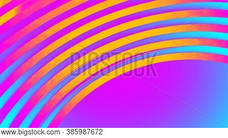 Ultraviolet Render. Abstract Vibrant Geometric Background. Banner Or Poster Creative Graphic Wallpap