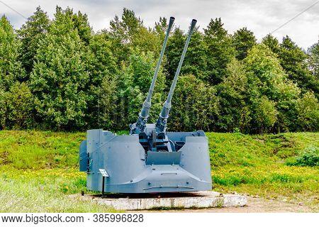 57 Mm Anti-aircraft Ship Guns On The Battery