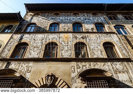 Palace Of Bianca Cappello, Located In Oltrarno Quarter In Florence, Italy. During Renaissance Was Th