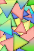Abstract background from multi -colored triangles.  works poster