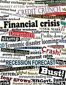 Background editable vector design of newspaper headlines about economic problems poster