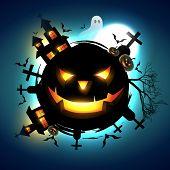 vector scary halloween design illustration poster