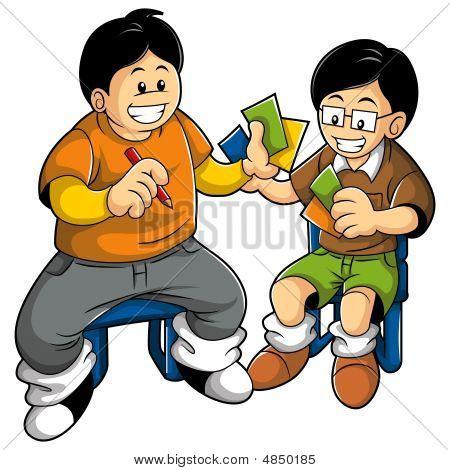 Kids Playing Card