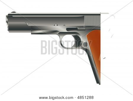 Vector Image Of Pistol