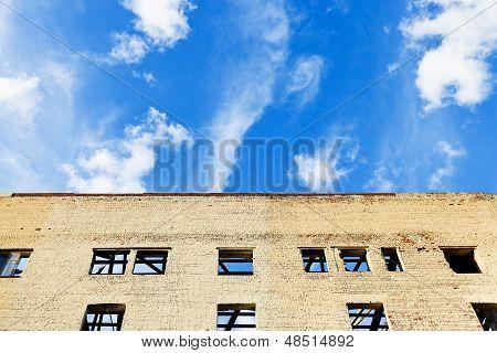 Blue Sky Above Furbished House