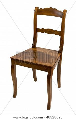 antique armchair made of cherry wood from the biedermeier time