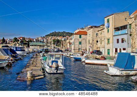 Town Of Sibenik Old Fishermen Harbor