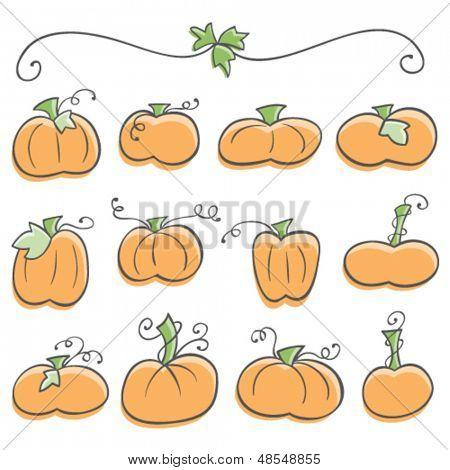 Doodle Pumpkin Elements
