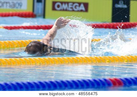 Jul 25 2009; Rome Italy; Ryan Cochran (CAN)  competing in the men's 400m Freestyle at the 13th Fina World Aquatics Championships held in the The Foro Italico Swimming Complex.