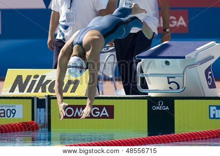 Jul 02 2009; Rome Italy; Elizabeth Beisel (USA) competing in the  womens 400m individual medley at the 13th Fina World Aquatics Championships held in the The Foro Italico Swimming Complex.