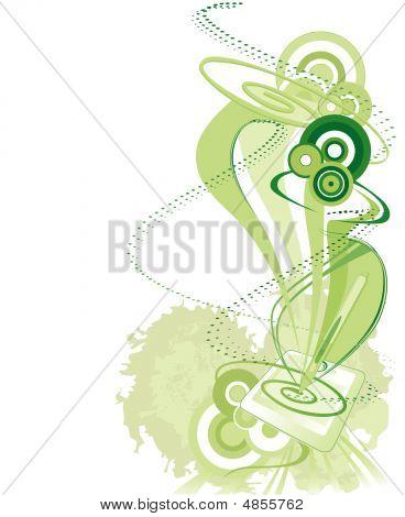 Green Pen Tablet Background