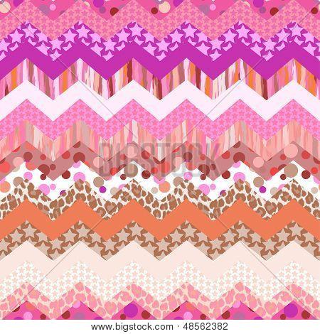 pink zigzag seamless background
