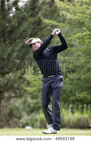 SAINT-OMER, FRANCE. 18-06-2010, Henrik Nystrom (SWE) on the second day of the European Tour, 14th Open de Saint-Omer, part of the Race to Dubai tournament and played at the AA Saint-Omer Golf Club .