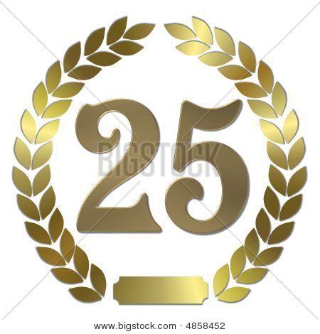 Golden Laurel Wreath 25 Years