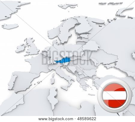 Austria On Map Of Europe