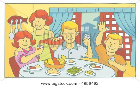 Family at mealtime
