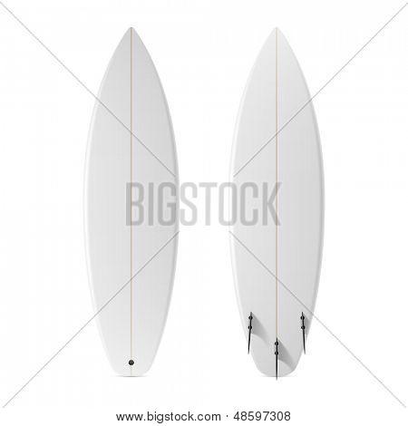 Blank surfboard. Vector.