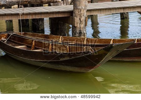 Old Fashined Wooden Boat Landing
