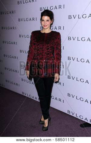 Marisa Tomei at the Elizabeth Taylor Bvlgari Jewelry Collection Unveiling, Bvlgari Beverly Hills, CA 02-19-13