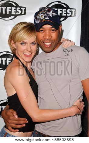 HOLLYWOOD - JULY 10: Elaine Hendrix and Bruce Daniels at the Premiere of