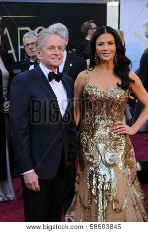 Michael Douglas, Catherine Zeta-Jones at the 85th Annual Academy Awards Arrivals, Dolby Theater, Hollywood, CA 02-24-13
