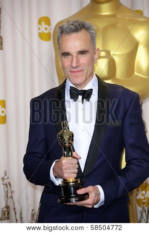 Daniel Day-Lewis at the 85th Annual Academy Awards Press Room, Dolby Theater, Hollywood, CA 02-24-13